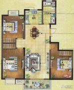 富城湾3室2厅1卫118平方米户型图