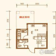 上尚城1室1厅1卫34平方米户型图