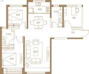 保利・金香槟3室2厅2卫112平方米户型图