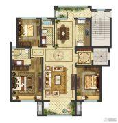 御香园3室2厅2卫135平方米户型图