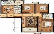 长申玉3室2厅2卫144平方米户型图