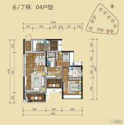 星海湾华庭3室2厅2卫100平方米户型图