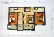 景园・盛世华都2室2厅2卫109平方米户型图