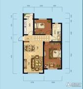 海成天山绿洲四期2室2厅1卫90平方米户型图