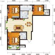宏府・麒麟山3室2厅2卫124平方米户型图