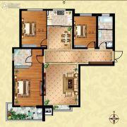 方晖・京港国际3室2厅2卫130平方米户型图