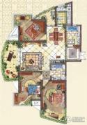 九洲新世界3室2厅1卫143平方米户型图