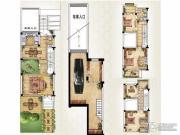 绿洲天逸城3室2厅3卫215平方米户型图