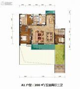 紫薇西棠5室2厅3卫200平方米户型图
