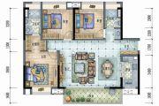 保利远洋领秀山3室2厅2卫125平方米户型图