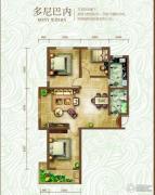 绿朗时光3室2厅1卫117平方米户型图
