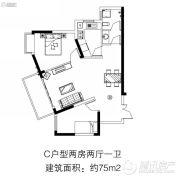 住那里2室2厅1卫0平方米户型图
