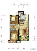 永定河孔雀城美丽园2室2厅1卫78平方米户型图