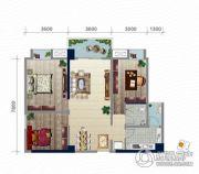 浏卉新城3室2厅1卫105平方米户型图