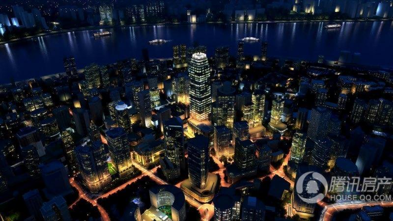 英利国际金融中心效果图-夜景
