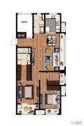 万科MixTown3室2厅2卫0平方米户型图