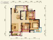 绿地国际花都3室2厅1卫87平方米户型图