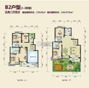 丽湖名居二期5室2厅4卫229平方米户型图
