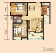 汉成天地2室2厅1卫78平方米户型图