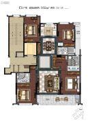 滨江保利・翡翠海岸4室2厅3卫162平方米户型图