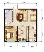 联想科技城三期2室1厅1卫65平方米户型图