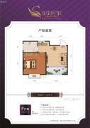 银湖星城1室2厅1卫0平方米户型图