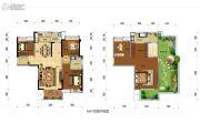 百商绿优城4室2厅2卫0平方米户型图