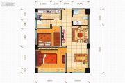 北京街2室1厅1卫78平方米户型图