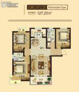 东鑫中央公园3室2厅2卫127平方米户型图
