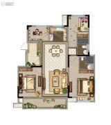 苏州鲁能公馆4室2厅2卫126平方米户型图
