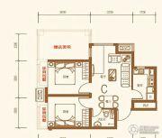 上尚城2室1厅1卫58平方米户型图