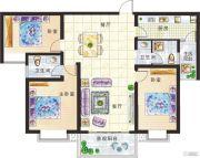 新美城上领地3室2厅2卫140平方米户型图