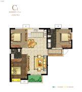 保利・心语花园3室2厅2卫121平方米户型图