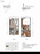 侨建・HI CITY3室2厅2卫82平方米户型图