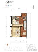海碧台3室2厅3卫214平方米户型图