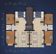 绿都花庭2室2厅1卫118平方米户型图