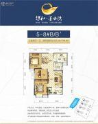 保和墨水湾3室2厅1卫99--100平方米户型图
