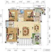 宏信依山郡3期3室2厅2卫124平方米户型图