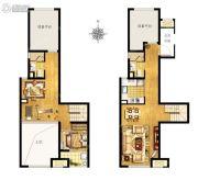 万科MixTown1室2厅2卫0平方米户型图