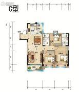 碧桂园天玺3室2厅2卫121--124平方米户型图