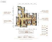 碧桂园银河城4室2厅3卫170平方米户型图