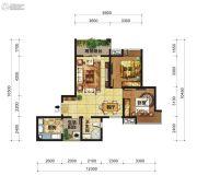 中交锦湾一期2室2厅1卫82平方米户型图