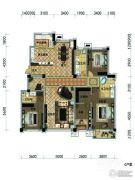 观山悦公馆4室2厅2卫320平方米户型图