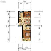 步阳江南甲第2室1厅1卫70平方米户型图