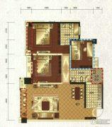 领地・国际公馆3室2厅2卫125平方米户型图