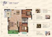 富丽金澜湾2室2厅1卫85--87平方米户型图