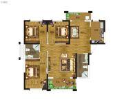 卓建水岸金城3室2厅2卫93--120平方米户型图