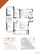 融信白宫凯悦湾4室2厅3卫170平方米户型图