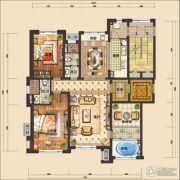 国信南山2室3厅2卫140平方米户型图