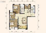 旭阳台北城3室2厅1卫97平方米户型图